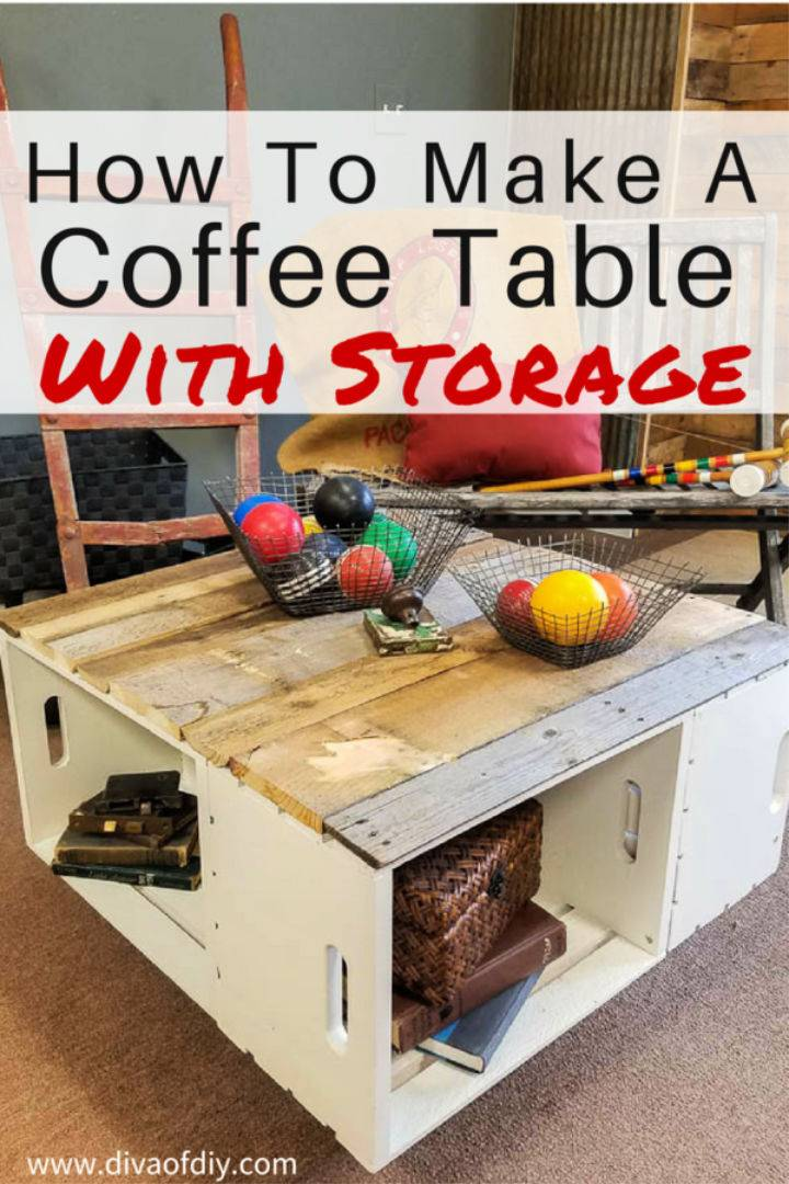 Coffee Table for Storage and Home Decor