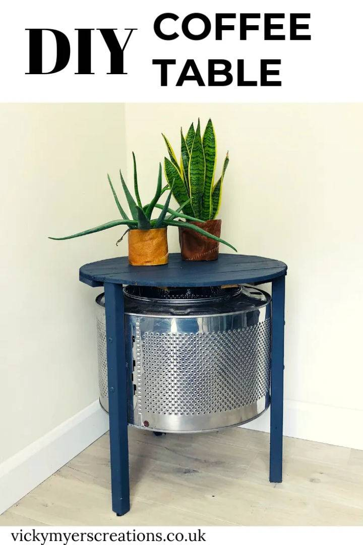 Coffee Table with Washing Machine Drum