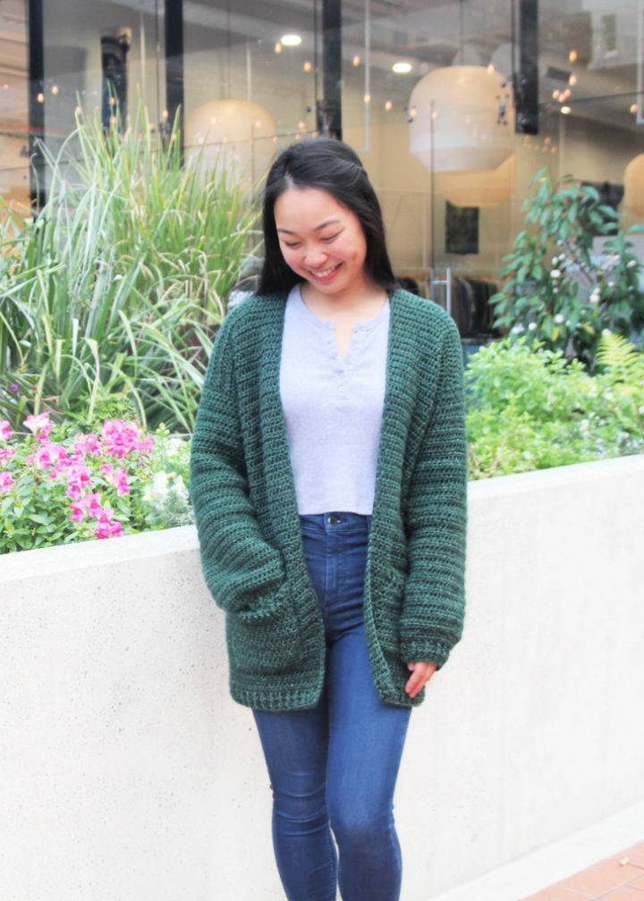 Crochet Briar Oversized Pocket Cardigan