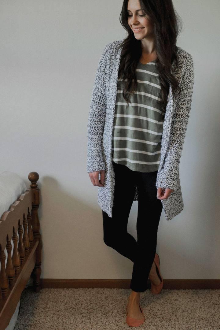 Crochet Hunky Cardigan Sweater
