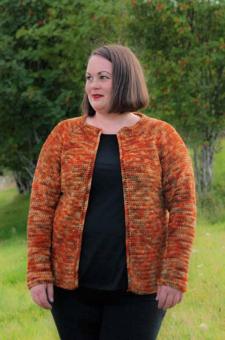 Crochet Raglan Cardigan