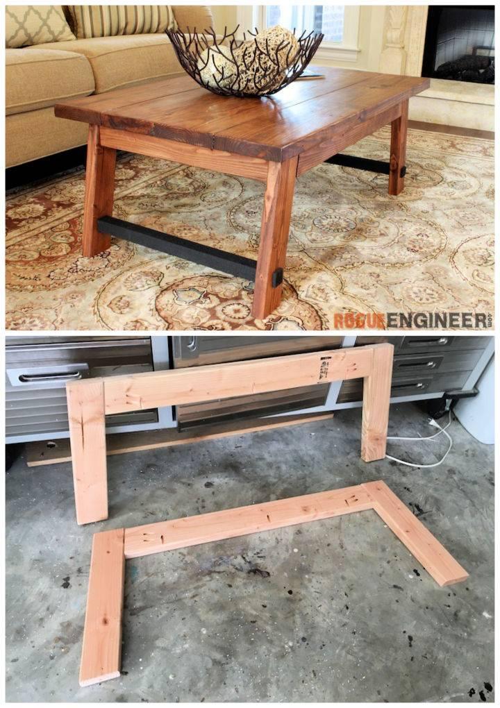 DIY Angled Leg Coffee Table