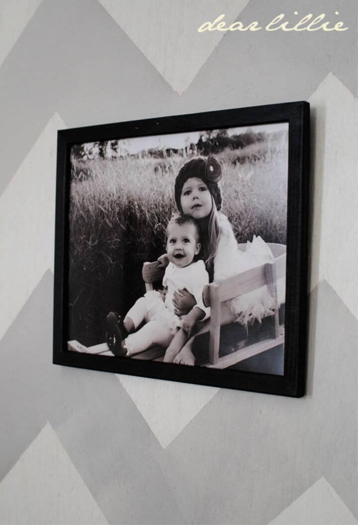 DIY Chalkboard Picture Frame