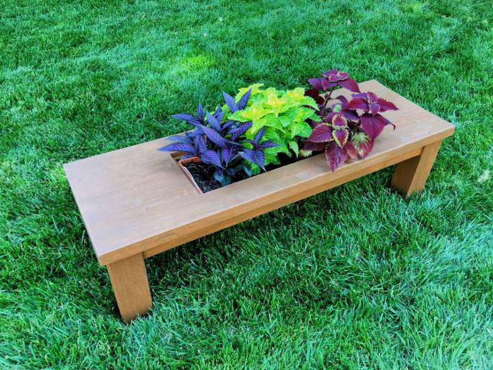 DIY Coffee Table with Planter