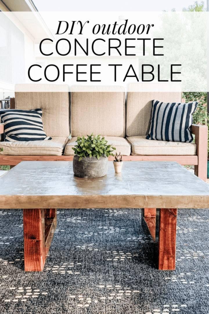 DIY Concrete Outdoor Coffee Table