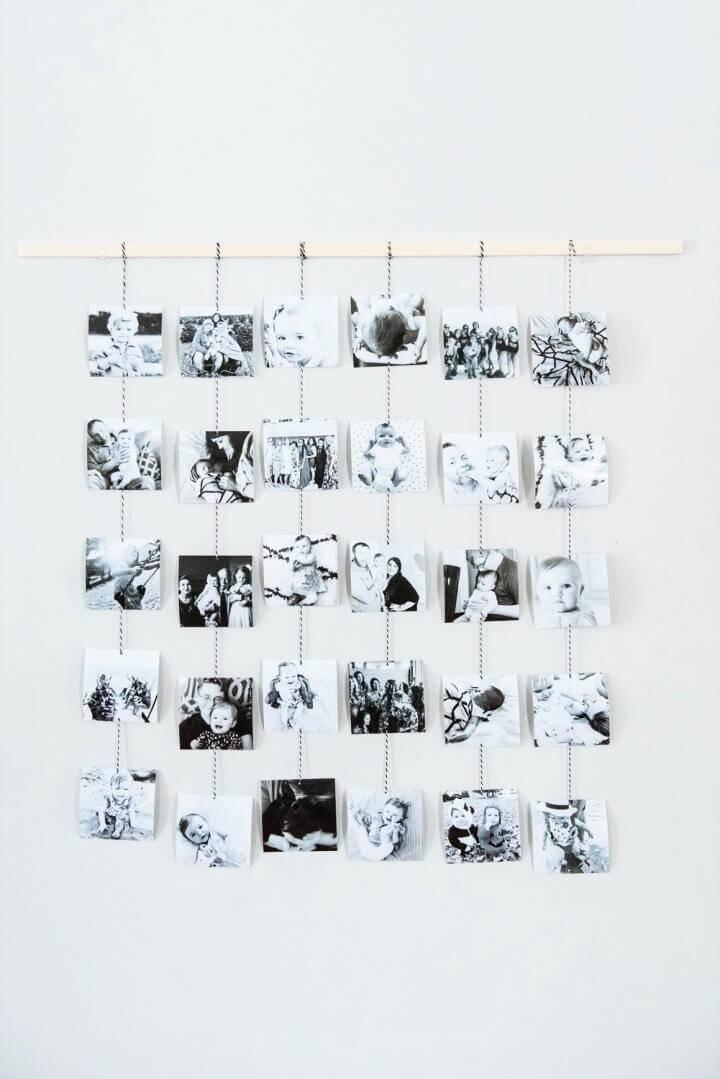 DIY Family Photo Wall Hanging