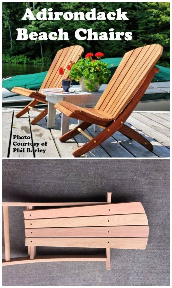 DIY Folding Adirondack Beach Chair