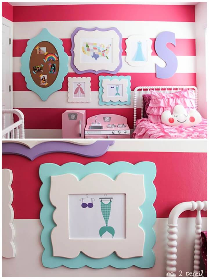 DIY Photo Wall for Little Girl Room