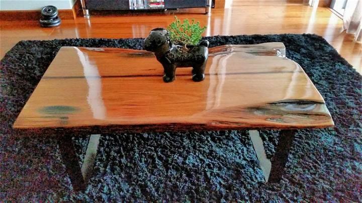 DIY Hardwood Coffee Table