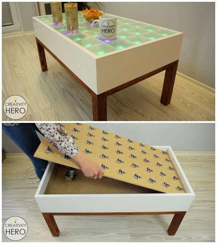 DIY LED Coffee Table