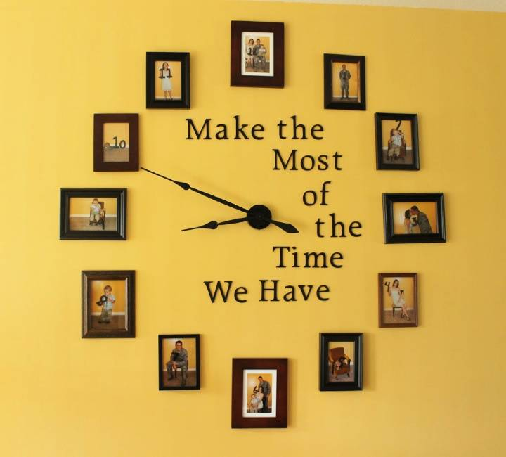 DIY Large Photo Wall Clock Gallery