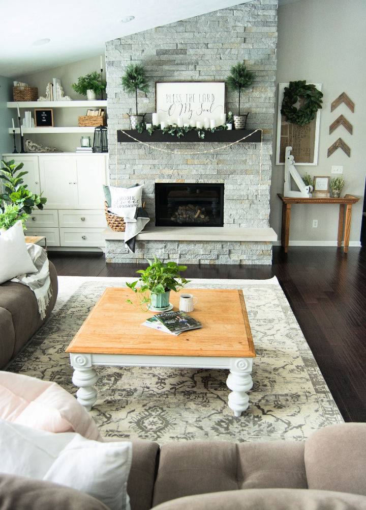 DIY Living Room Coffee Table Decor