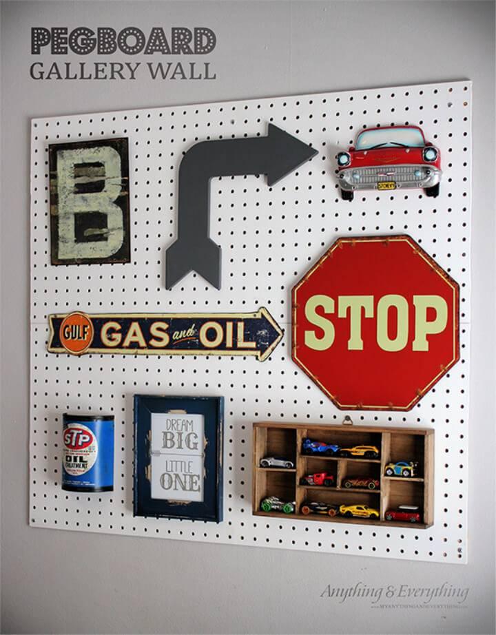 DIY Pegboard Gallery Wall