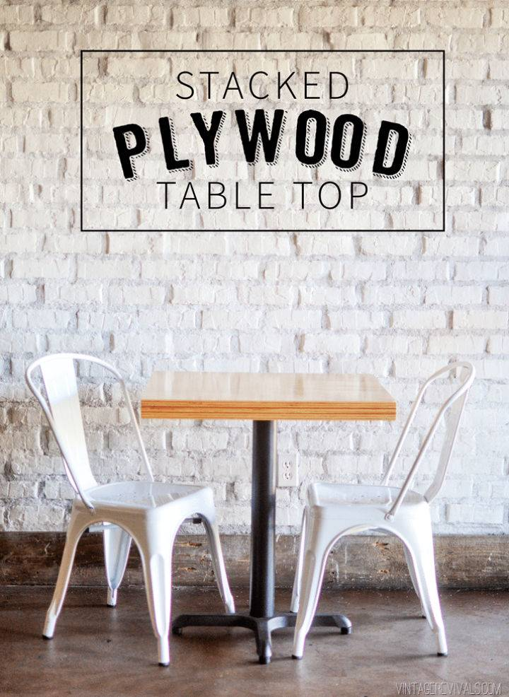 DIY Stacked Plywood Coffee Table
