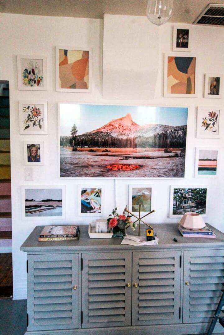 DIY TV Gallery Wall