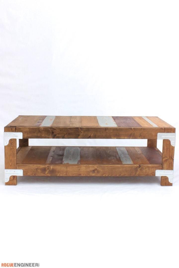 Easy DIY Industrial Coffee Table