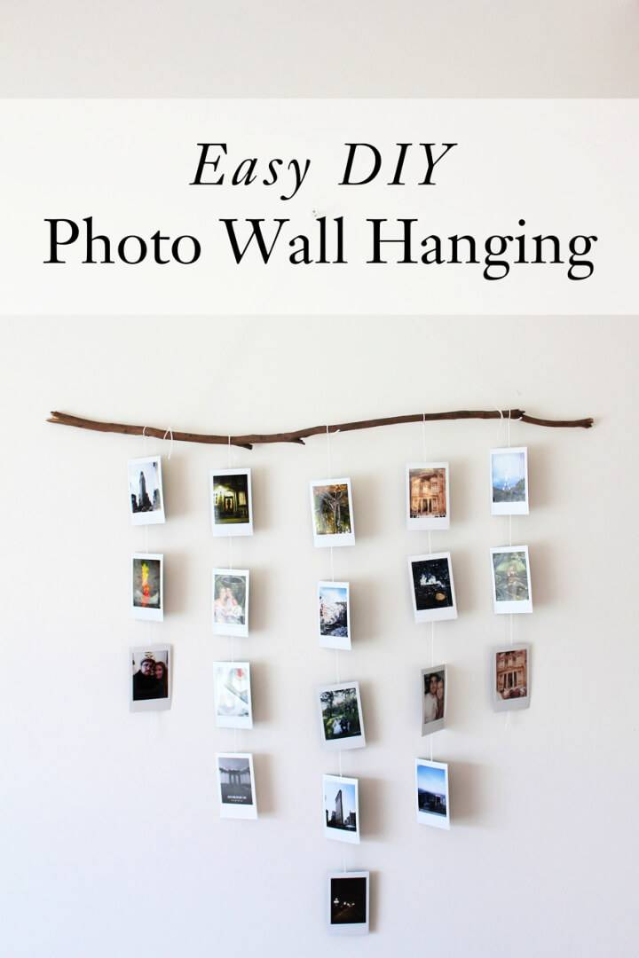 Easy DIY Photo Wall Hanging