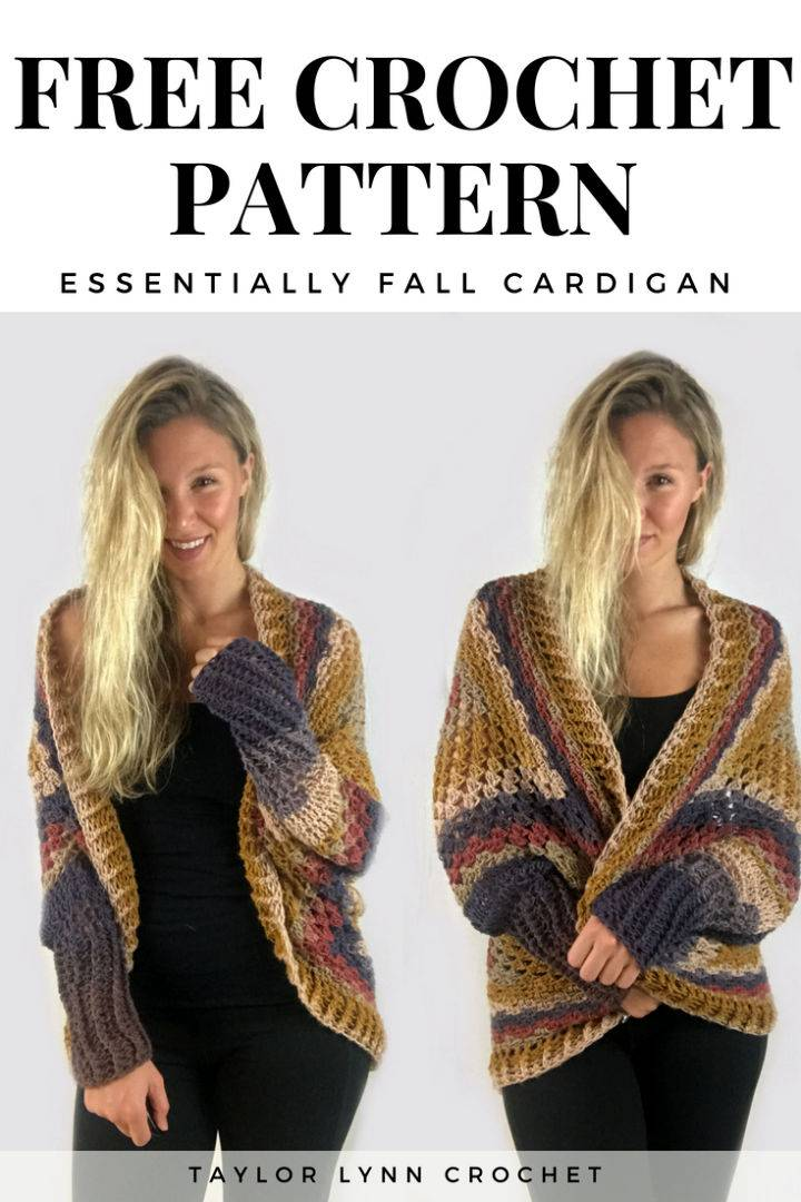 Essentially Fall Cardigan Free Crochet Pattern