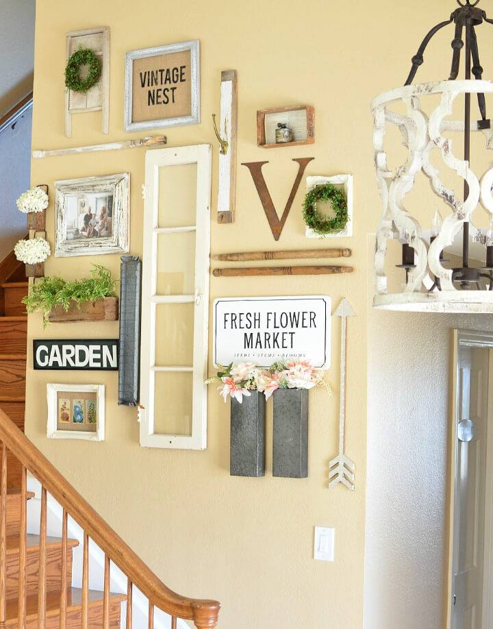 Farmhouse Style Gallery Wall for Spring