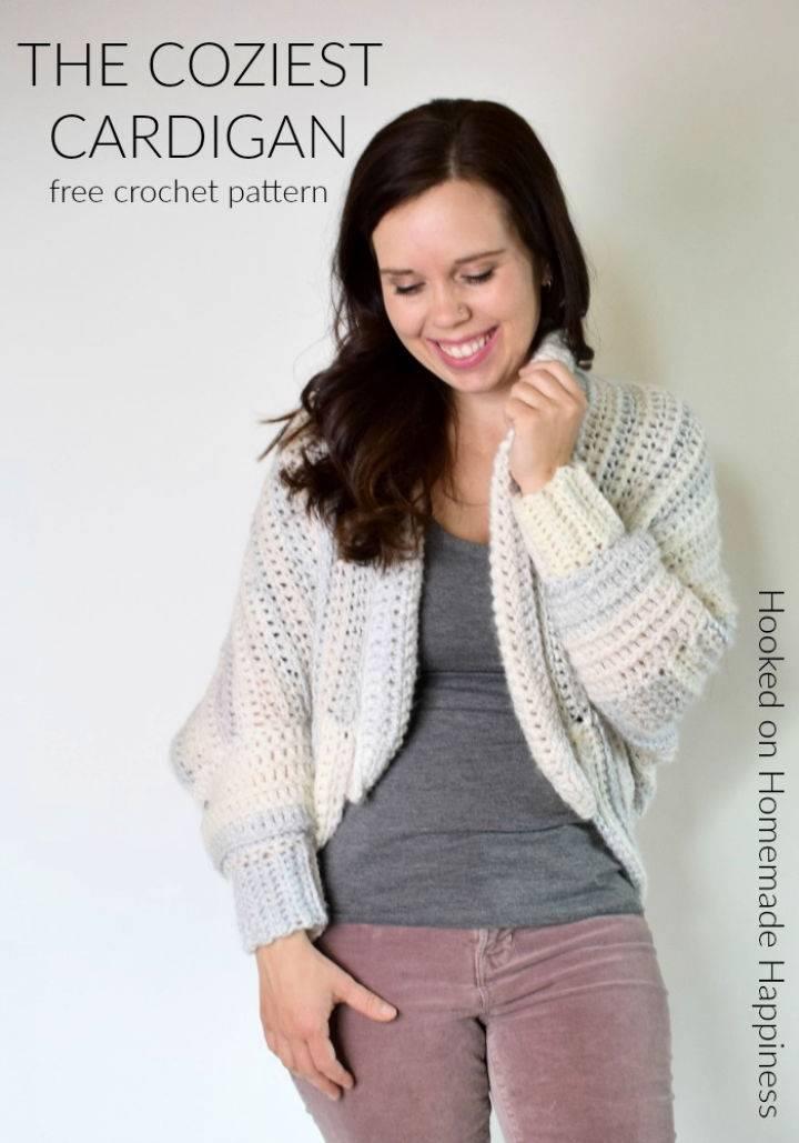 Free Crochet Coziest Cardigan Pattern