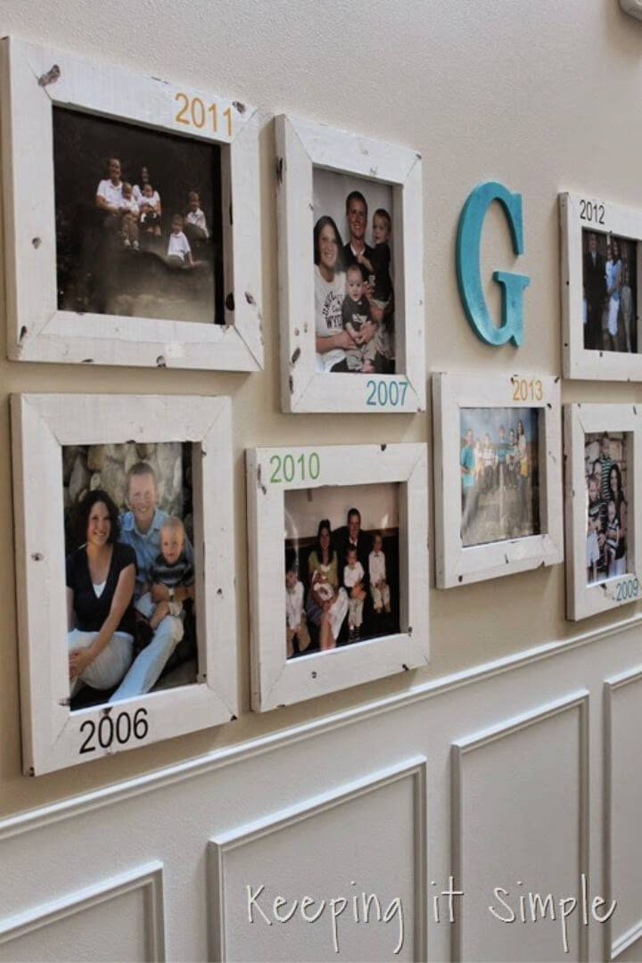 Gallery Wall With Old Family Pictures