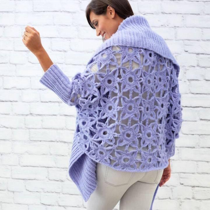 Crochet Granny Lace Cardigan
