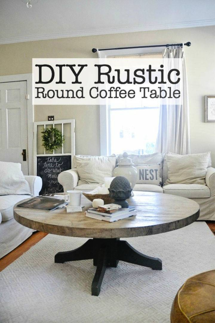 How to Build Round Coffee Table