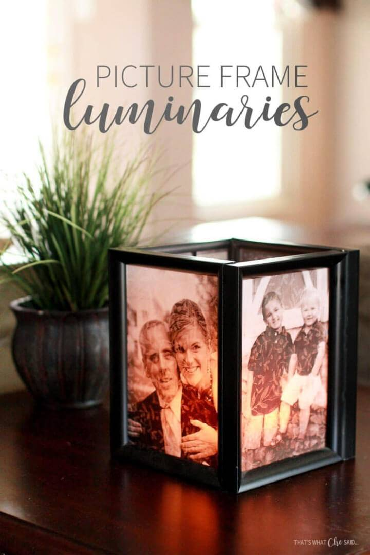 How to Make Picture Frame Luminaries