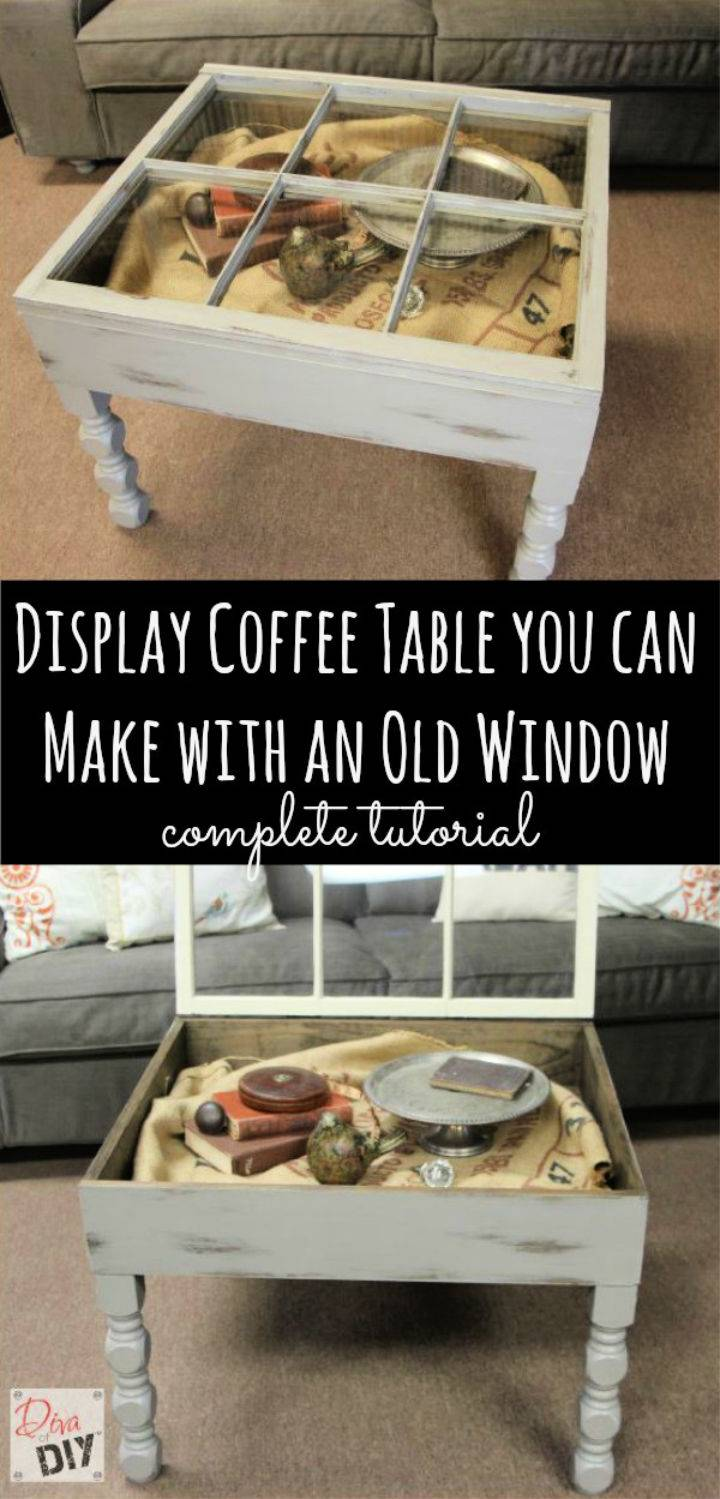 Make Coffee Table with an Old Window