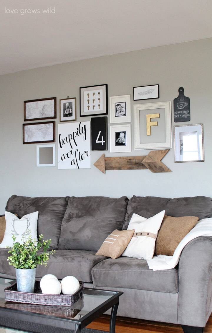 Make a Living Room Gallery Wall