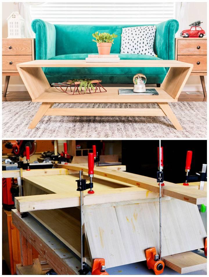 Modern DIY Mid century Coffee Table