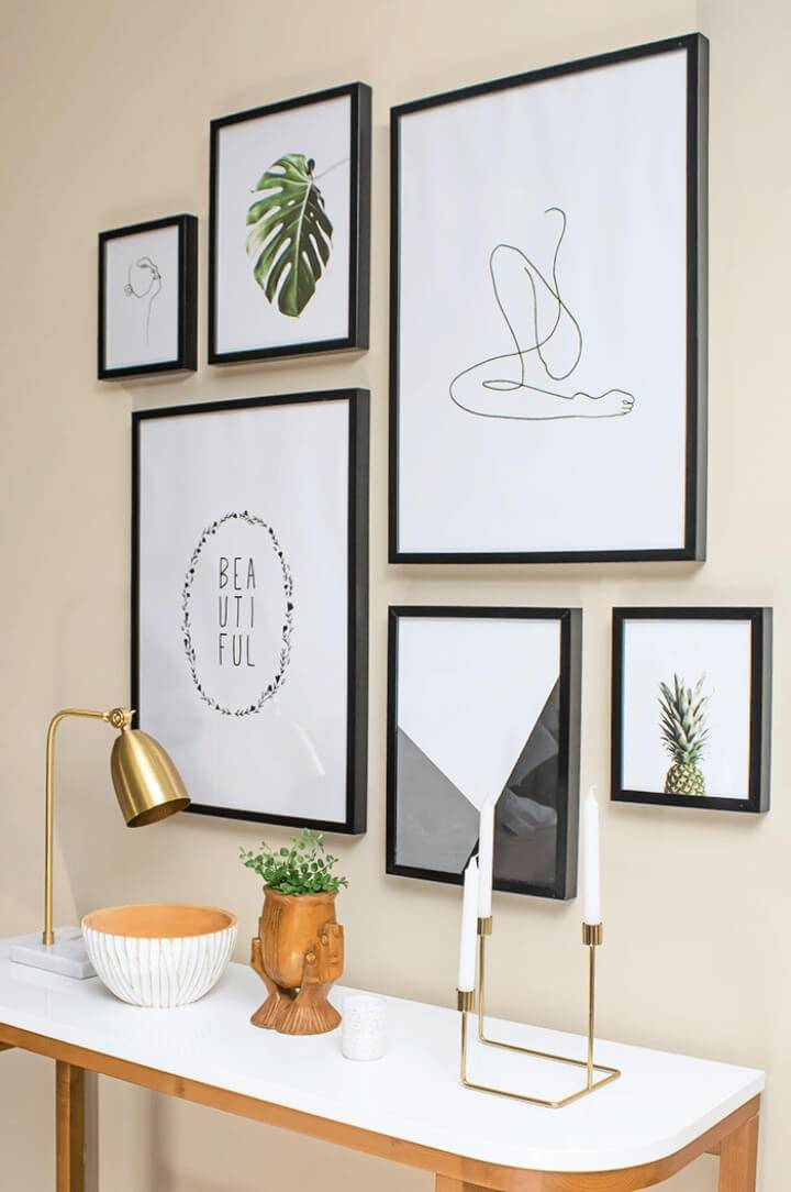 Modern DIY Minimalist Photo Wall