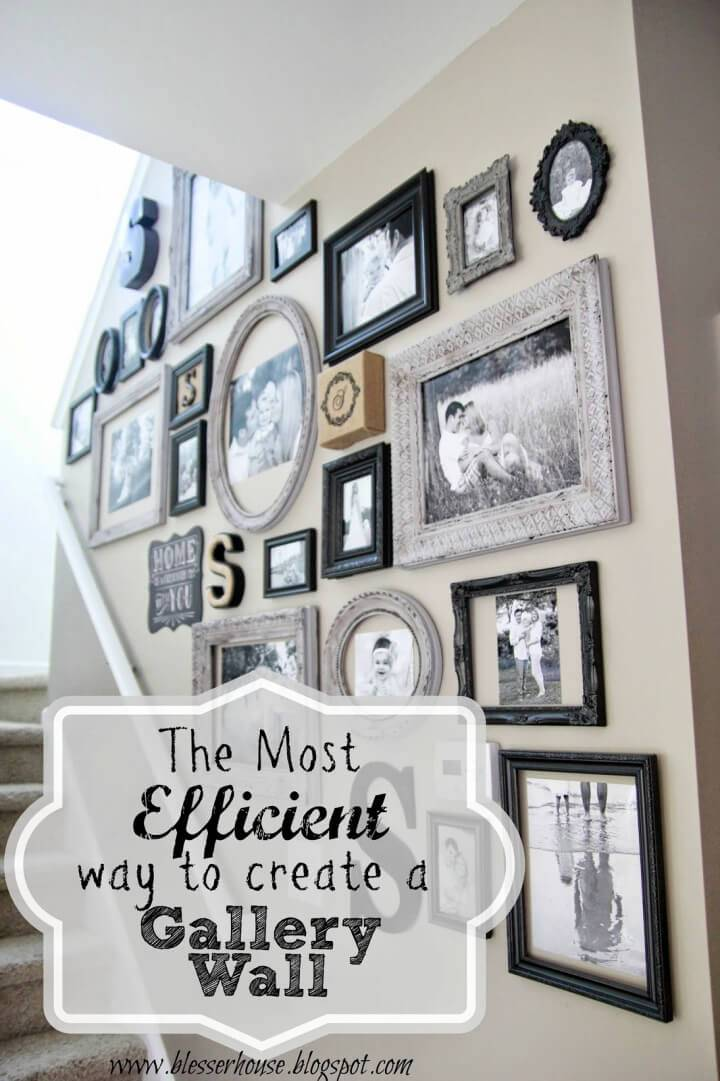Most Efficient Way to Create a Photo Wall