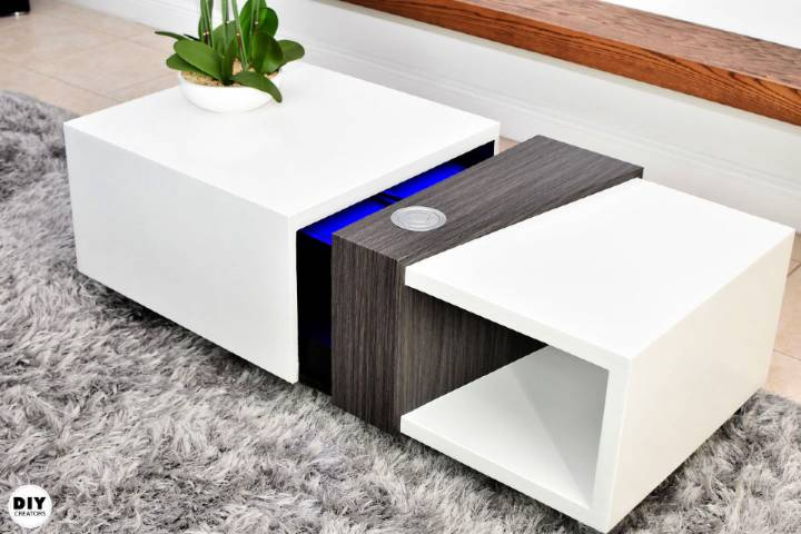 Motorized Coffee Table With a Secret Compartment