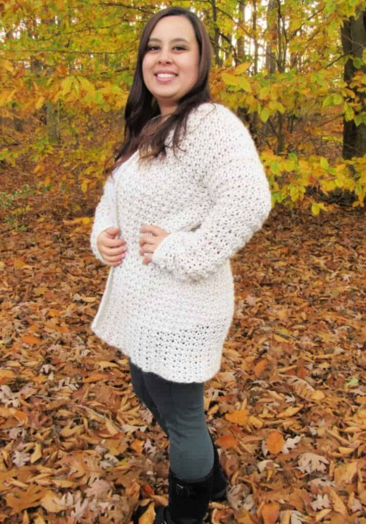 Crochet Poppy Cardigan