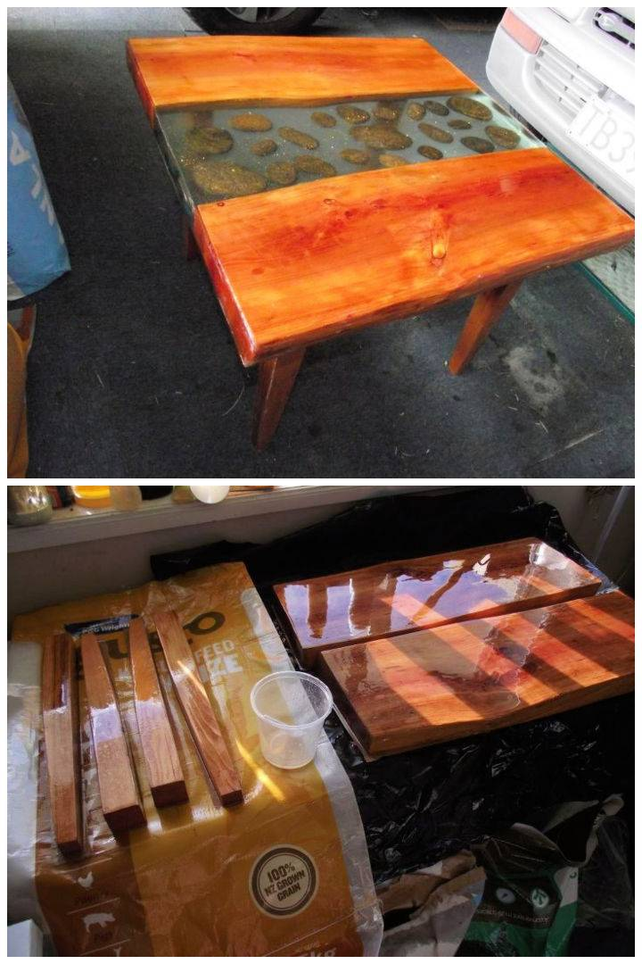 Poured Epoxy Resin Coffee Table