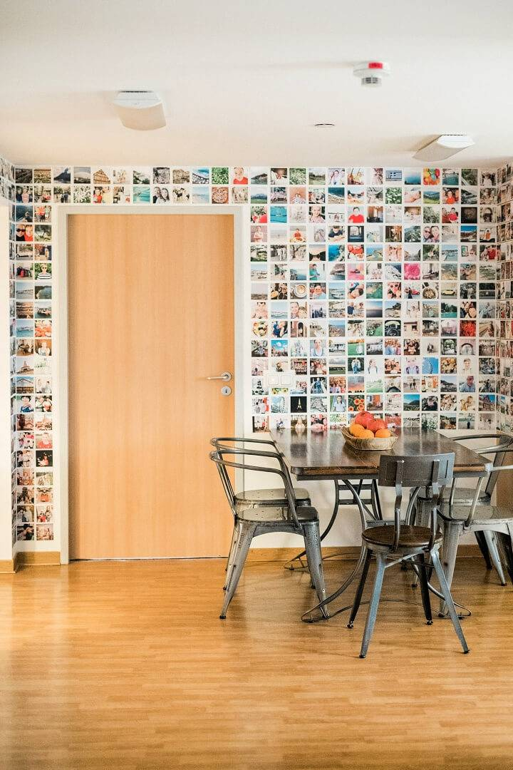 Simple DIY Kitchen Photo Wall