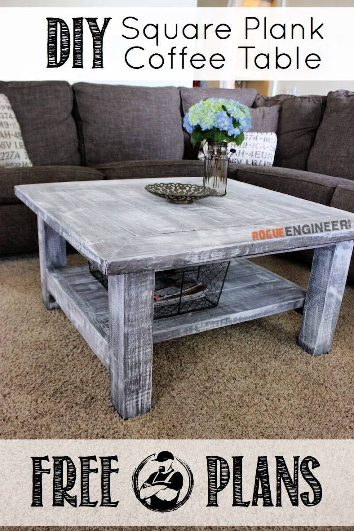 Square Plank Coffee Table