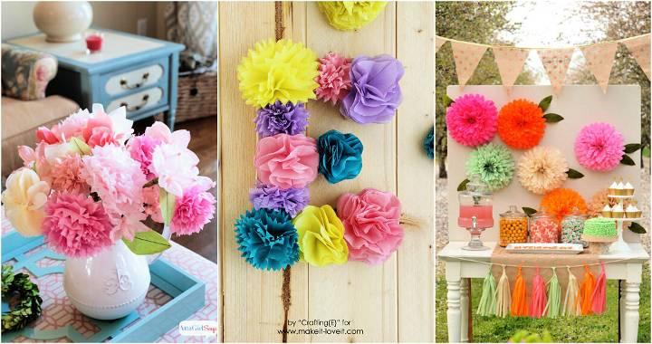 Tissue Paper Flowers for Beginners