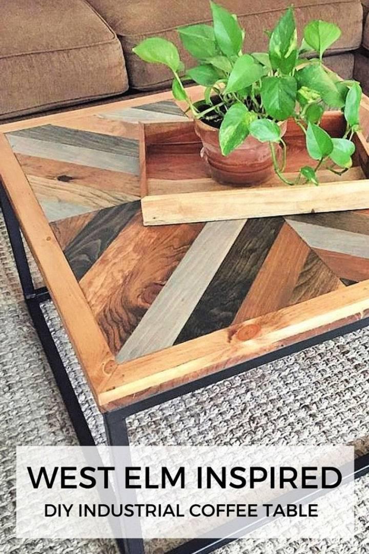 West Elm Inspired Industrial Coffee Table