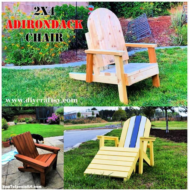 5 Best DIY 2x4 Adirondack Chair Plans