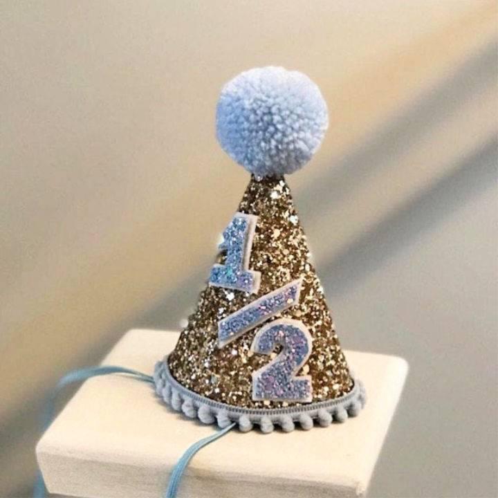 6 Months Birthday Party Hat
