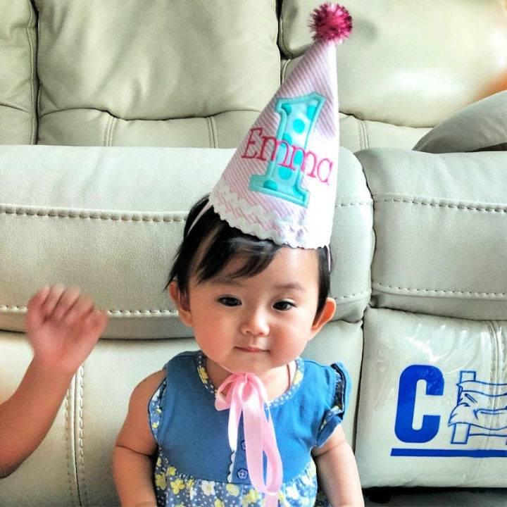 Birthday Fabric Hat for Girls