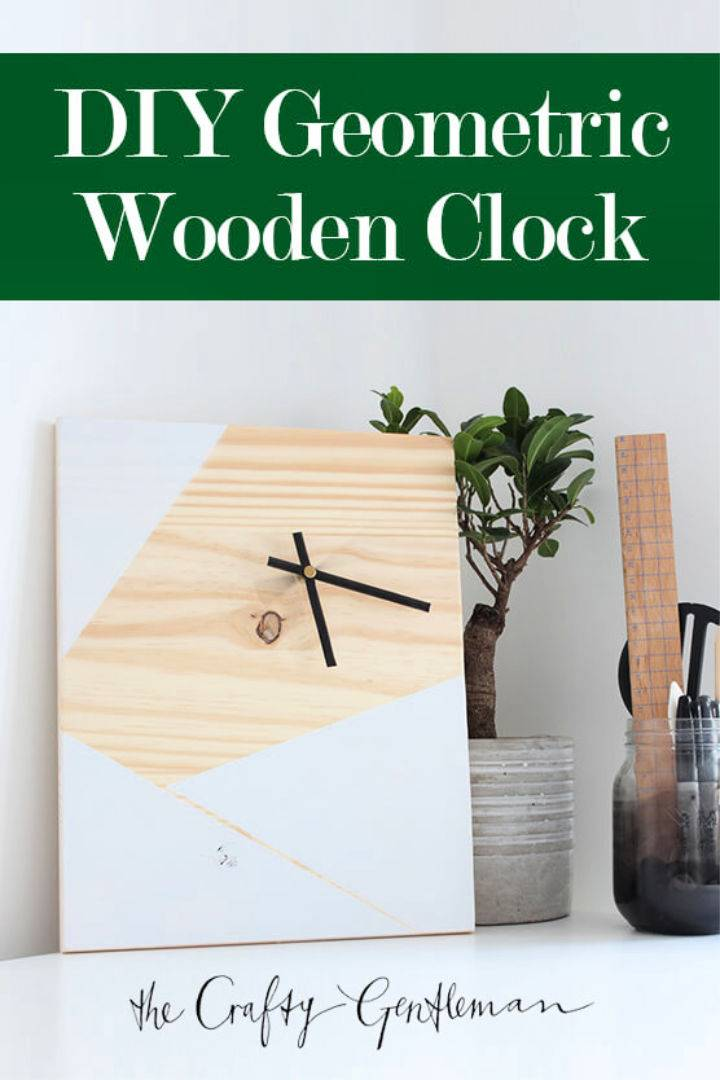 Build a Geometric Wooden Clock