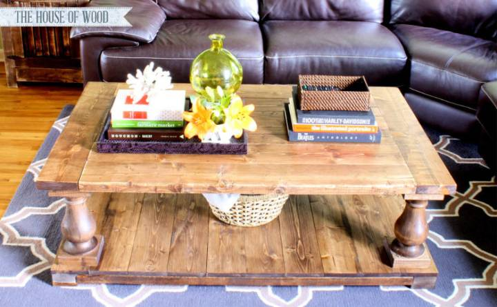 DIY Baluster Coffee Table