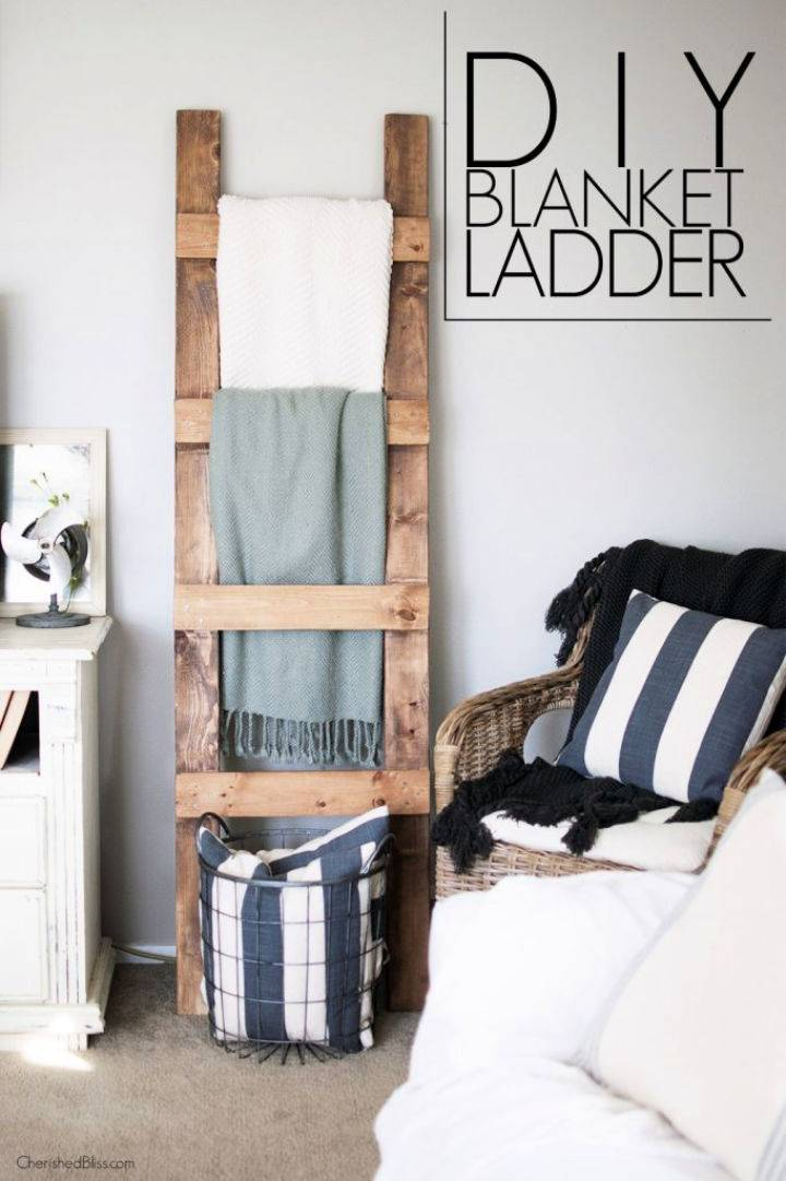 DIY Blanket Ladder to Sell