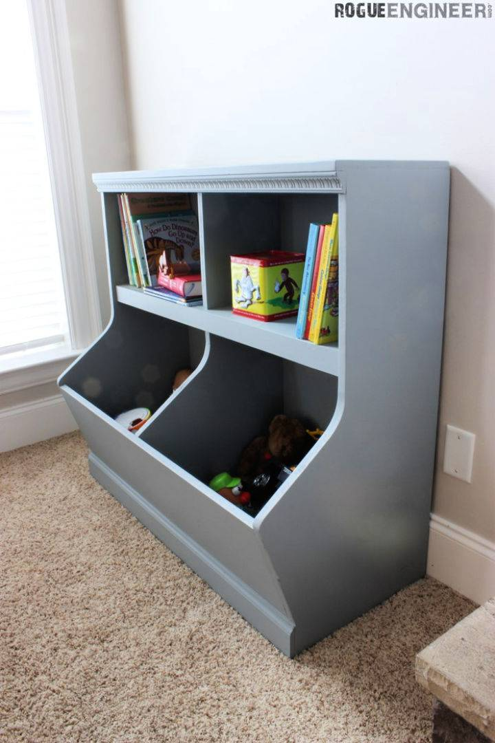 DIY Bookcase with Toy Storage
