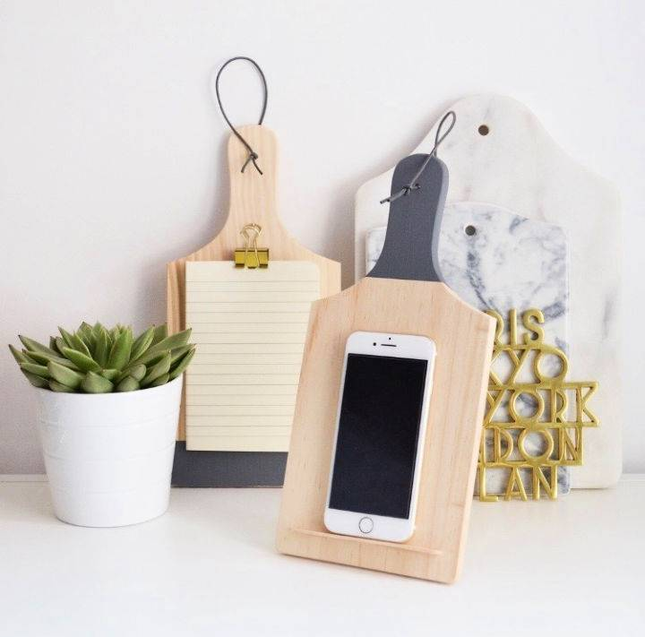 DIY Chopping Board Rest Note Pad