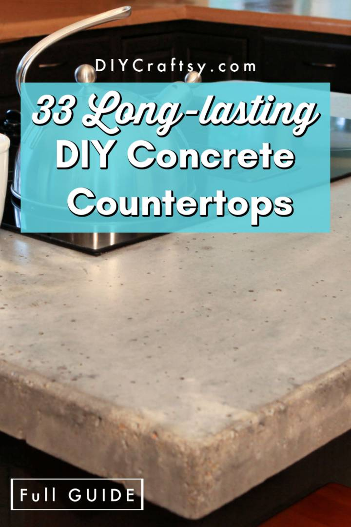 33 Long Lasting Diy Concrete Countertops Diy Crafts