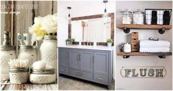 DIY Farmhouse Bathroom Decor Ideas